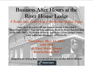 Business After Hours hosted by River House Lodge @ River House Lodge | Rowlesburg | West Virginia | United States