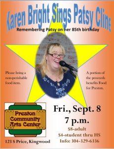 Karen Bright Sings Patsy Cline - Preston Community Arts Center @ Presotn Community Arts Center
