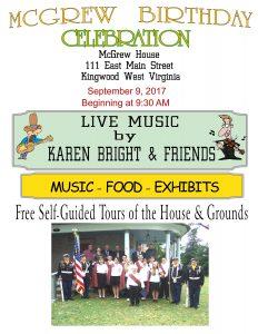 McGrew Birthday Celebration @ McGrew House | Kingwood | West Virginia | United States