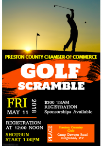 Preston County Chamber of Commerce Annual Golf Scramble @ Preston Country Club | Kingwood | West Virginia | United States