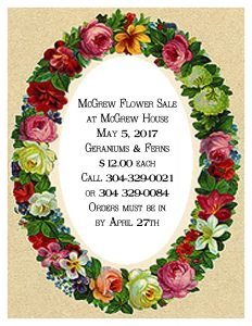 McGrew Society Flower Sale @ McGrew Society