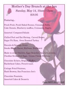 Mother's Day Brunch at the Preston County Inn @ Preston County Inn | Kingwood | West Virginia | United States