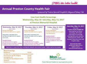 Preston County Health Fair @ Preston Memorial Hospital | Kingwood | West Virginia | United States