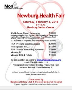 Newburg Health Fair @ Newburg Senior Center | Newburg | West Virginia | United States