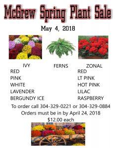 McGrew Plant Sale @ McGrew Society | Kingwood | West Virginia | United States